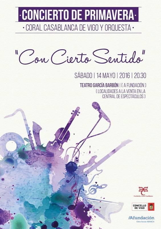 CON CIERTO SENTIDO Coral Casablanca Y Orquesta