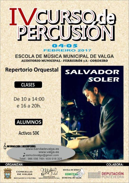 IV Curso De Percusión De Valga