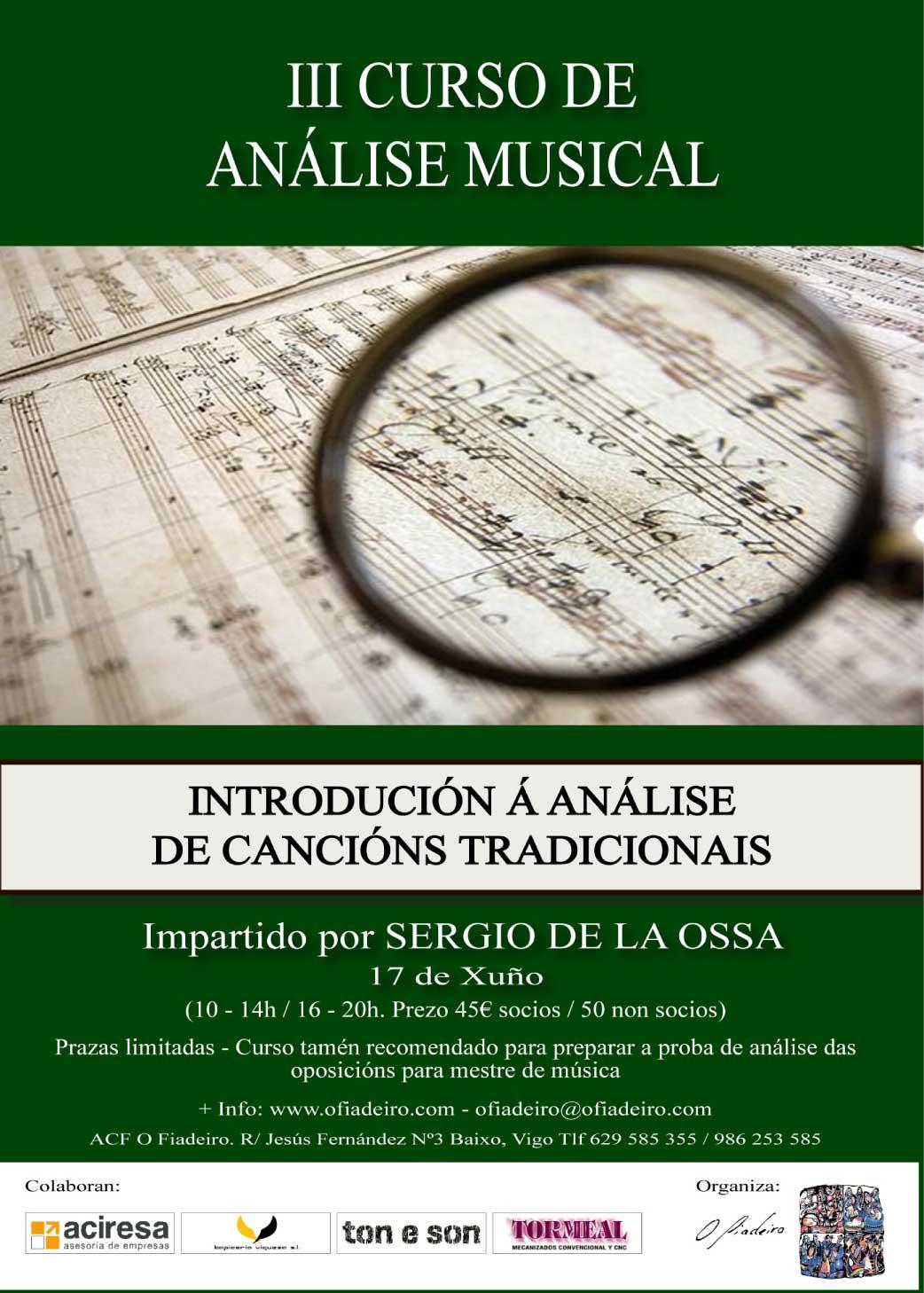 III Curso De Análisis Musical O Fiadeiro