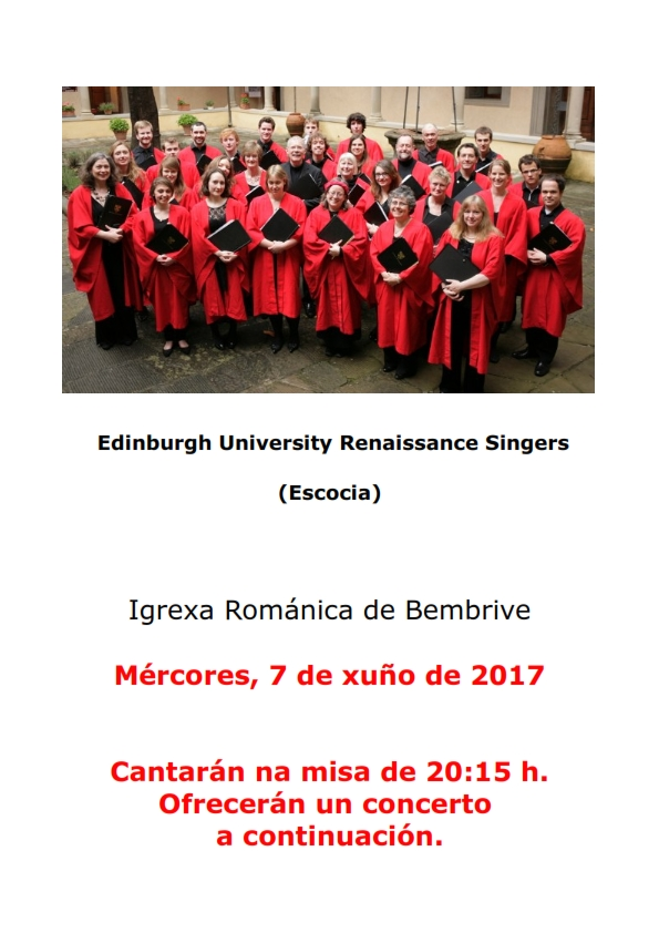 The Edinburgh University Renaissance Singers En Concierto