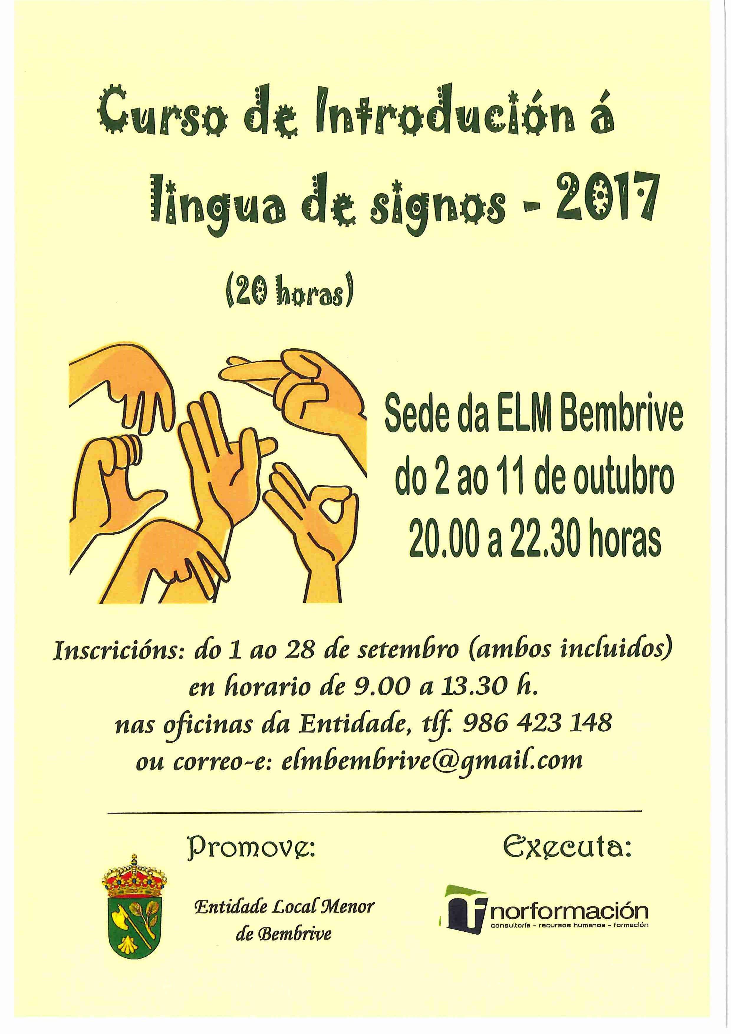 Elmb Cartaz Curso Lingua Signos 2017