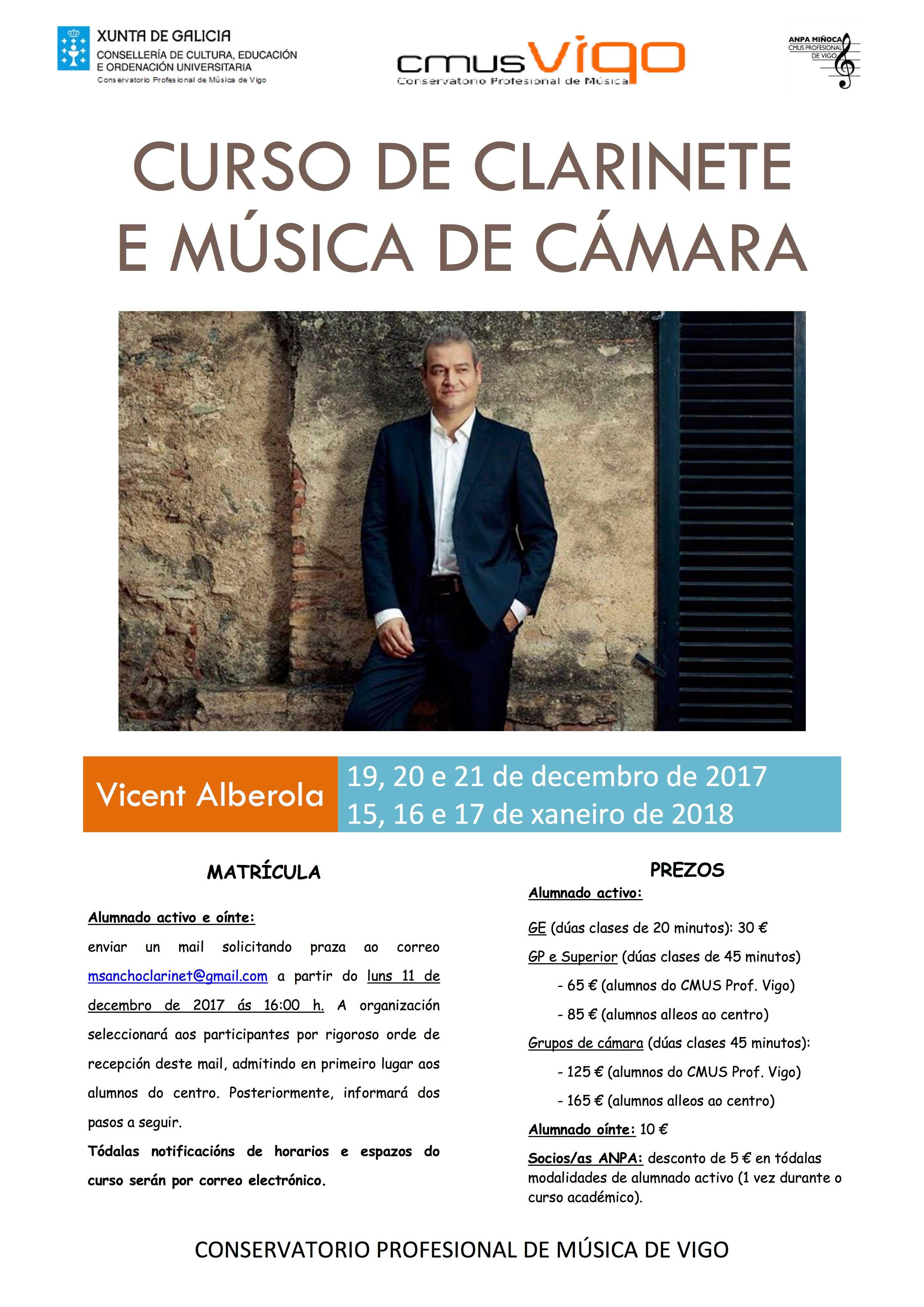Curso De Clarinete Con Vicent Alberola
