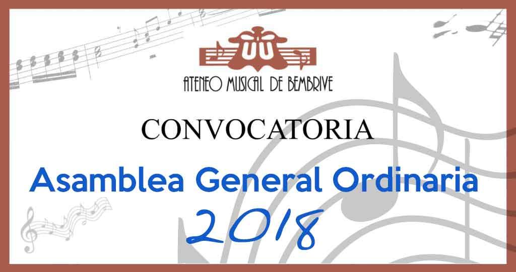 Asamblea General Ordinaria 2018