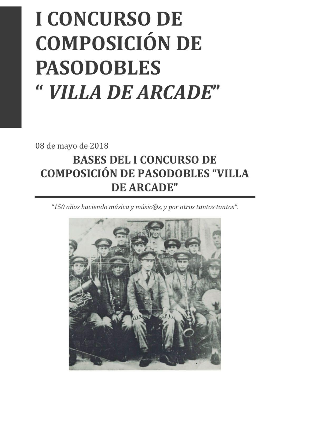 I Concurso Composición De Pasodobles Villa De Arcade