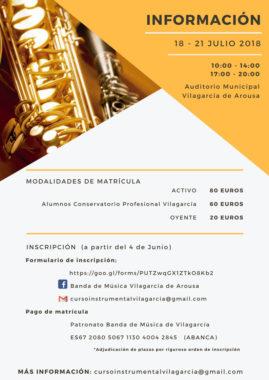 info III Curso Instrumental Cidade Vilagarcía