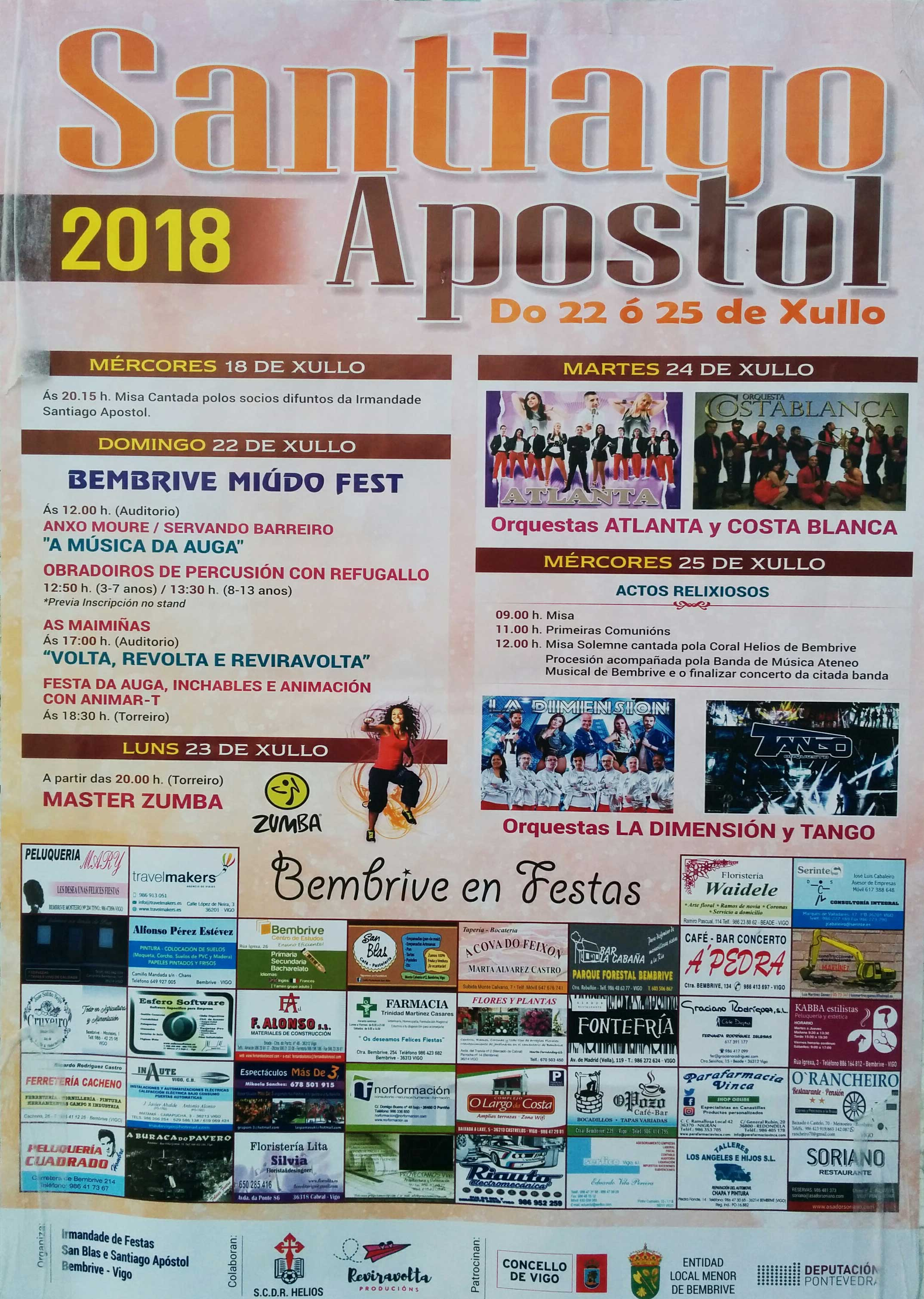 Fiestas Santiago Apóstol Bembrive 2018