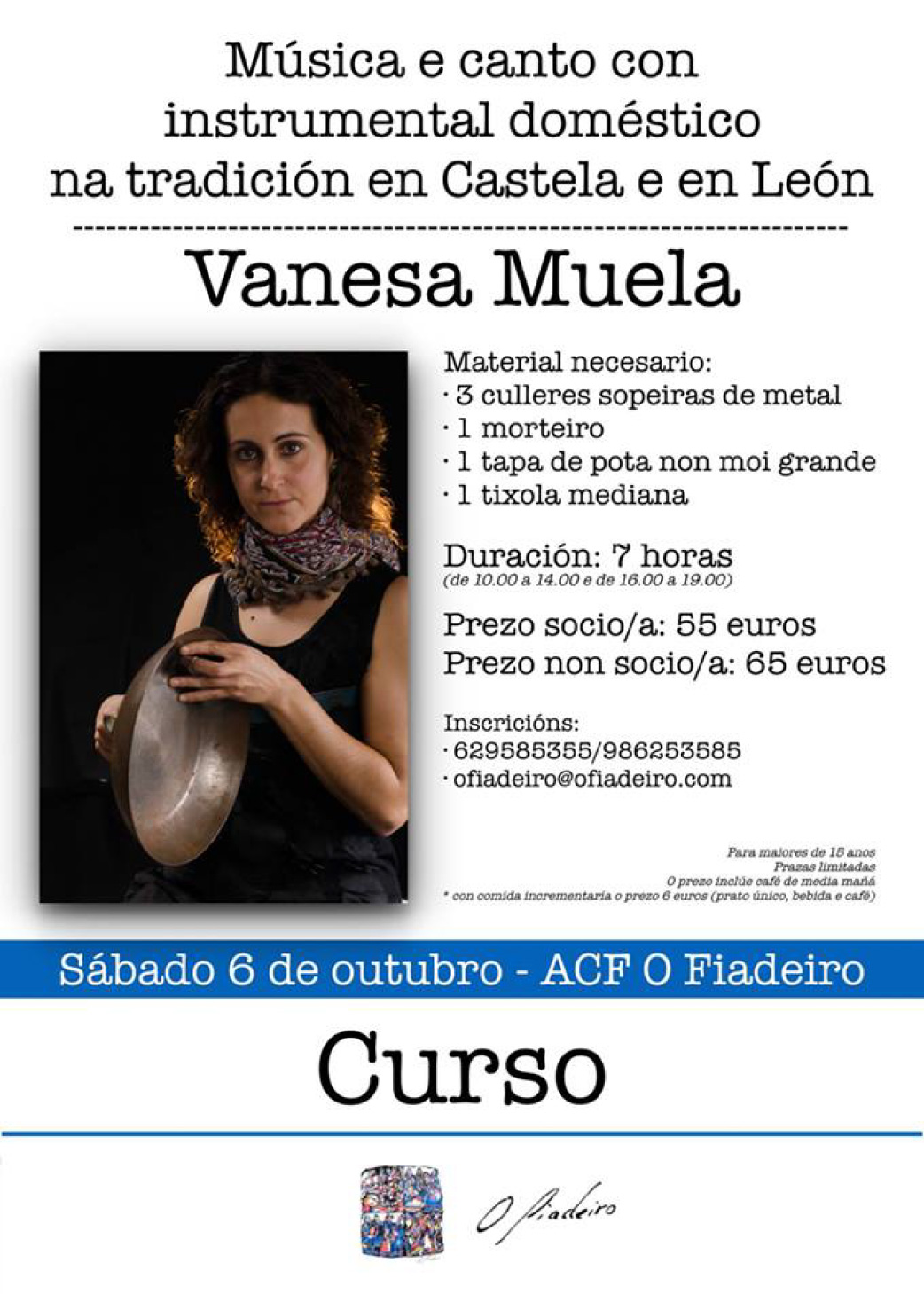 """Curso De """"Música E Canto Con Instrumental Doméstico Na Tradición En Castela E En León"""""""
