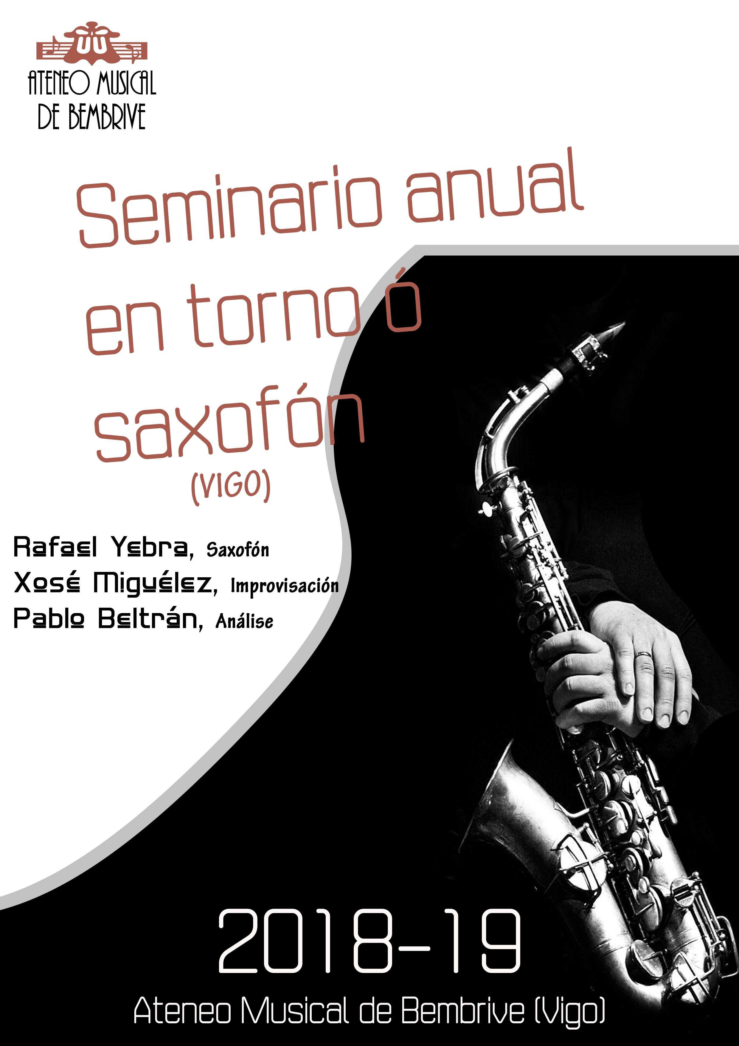 Seminario Anual En Torno Al Saxofón 2018-19 Vigo