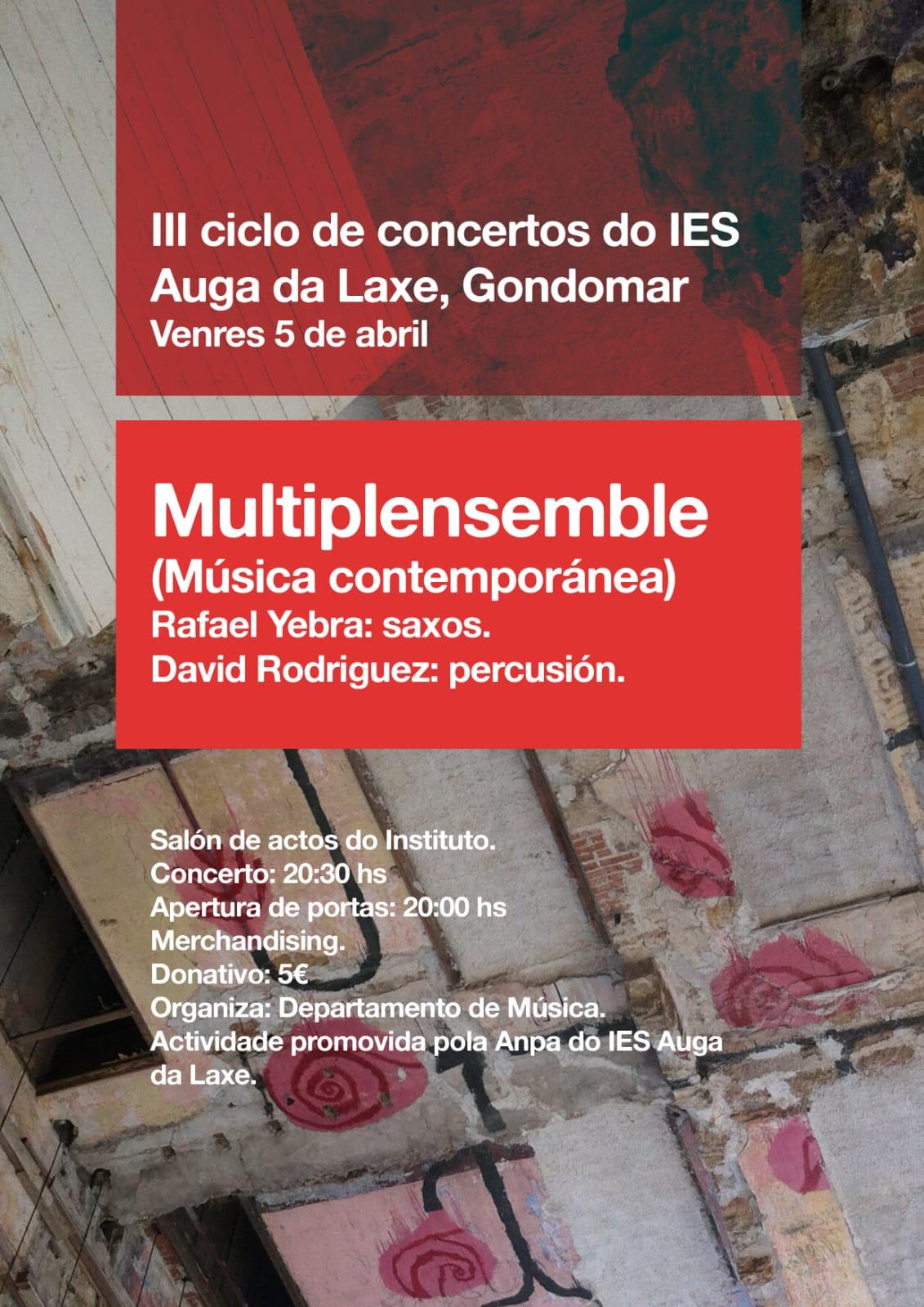 III Ciclo De Concertos IES Auga Da Laxe