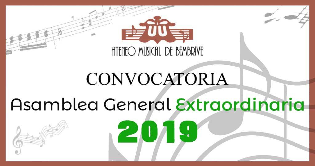 Asamblea General Extraordinaria 2019